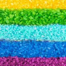 Rainbow Ice Salt Science Experiment