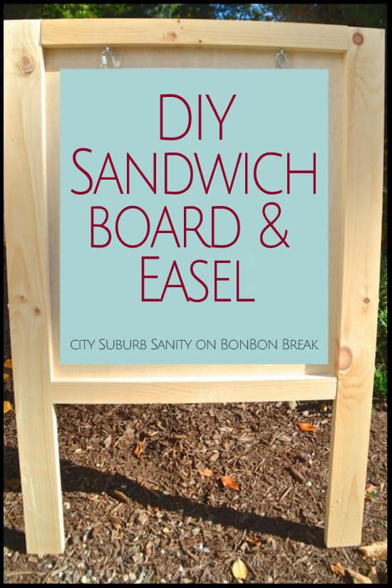 Diy Easel Sandwich Board