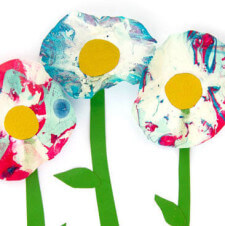 Marbled Spring Flowers