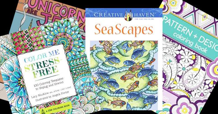 30 Adult Coloring Books BonBon Break