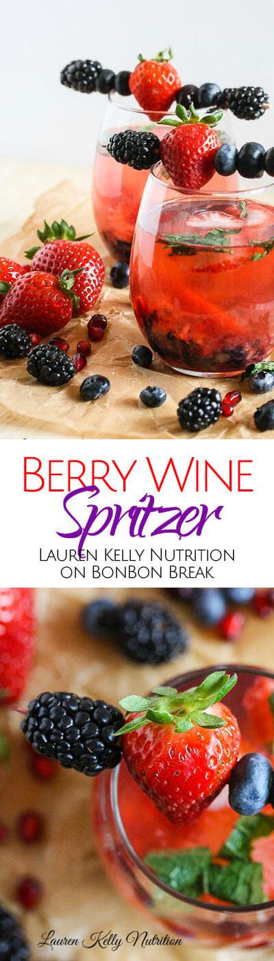 Berry Wine Spritzer | BonBon Break