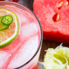 Jalapeño Watermelon Margaritas