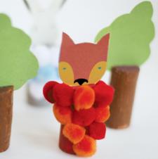 Repurposed Wine Cork Animal Puppets