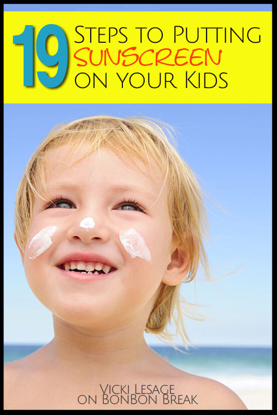 This should be easy, right? Follow these 19 simple steps to get your kids lathered up and protected from the sun's rays. (A little summer fun humor)