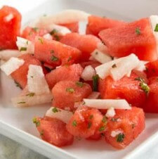 Jicama & Watermelon Salad