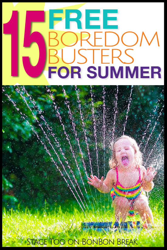 12 Boredom Busting FREE ideas for Summer Vacation. Keep the kids occupied this summer and don't break the bank.