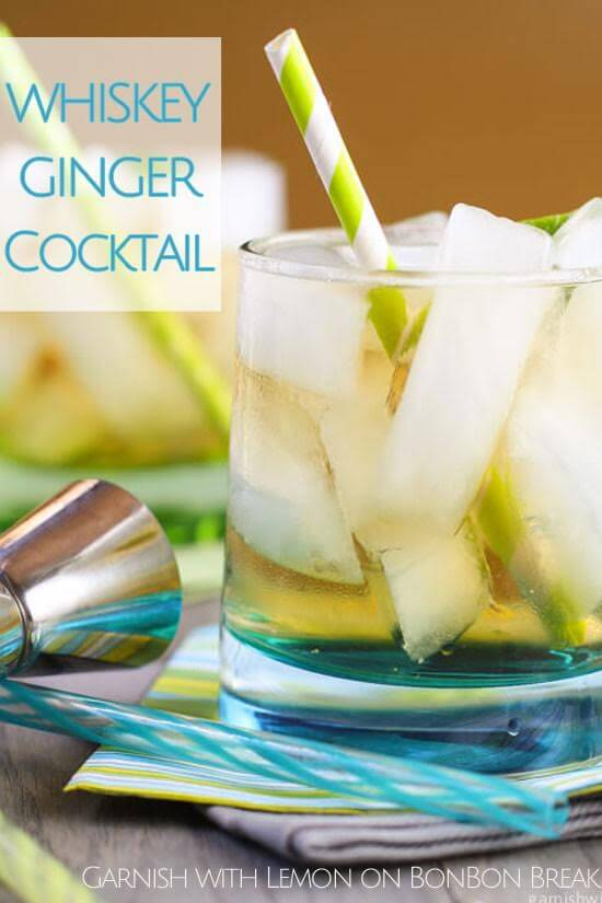 This ginger whiskey cocktail is great during every season
