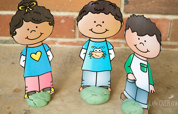 Play dough Friends Printable set for imaginative play with preschoolers