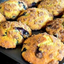 Buttermilk Streusel Blueberry Muffins