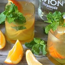 Orange Mint Tequila Cocktail