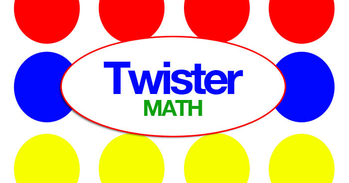Practice fun math facts using the classic children's game Twister