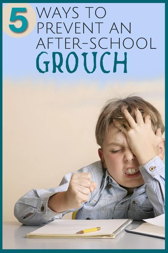 5 Ways to Prevent an After School Grouch