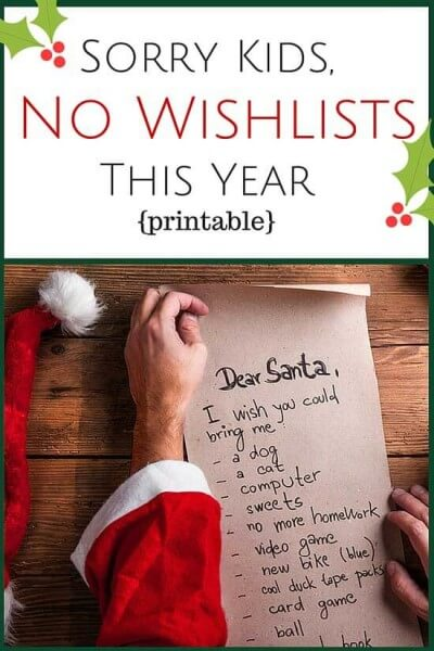 This Christmas wish list alternative might help bring the really feeling for the Christmas season into your home.
