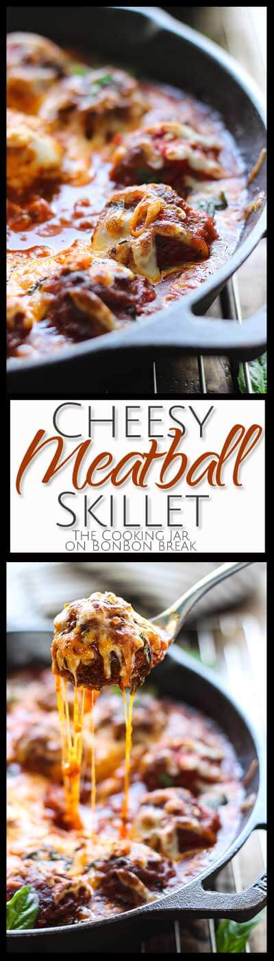 This Cheesy Meatball Skillet delivers flavor and warmth that will satisfy your belly and lift your spirits. Eat right out of the skillet! Why not?