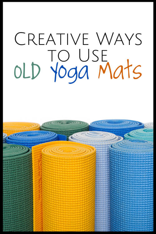 Don't throw away those old yoga mats! Here are a few creative ways to recycle them.