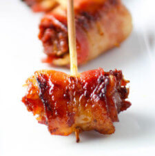 Bacon-Wrapped Dates with Marcona Almonds
