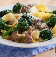 Broccolini and Sausage Pasta