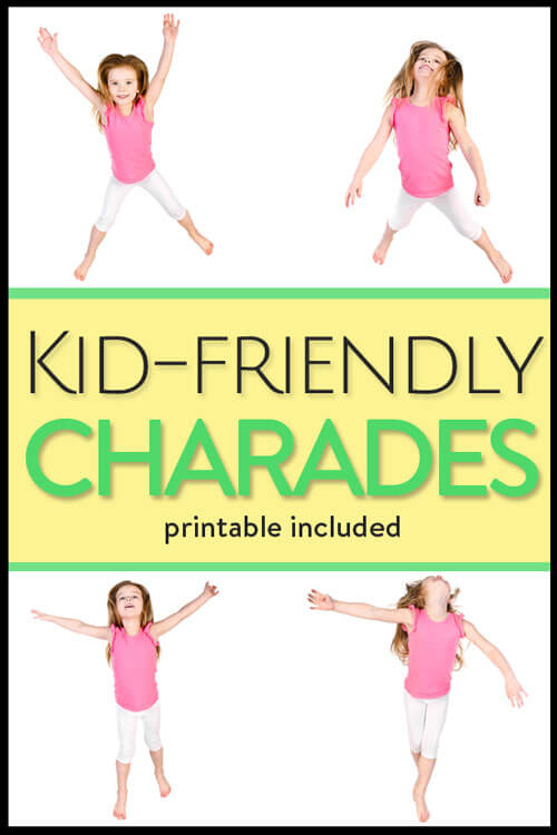 Punchy image inside charades for kids printable