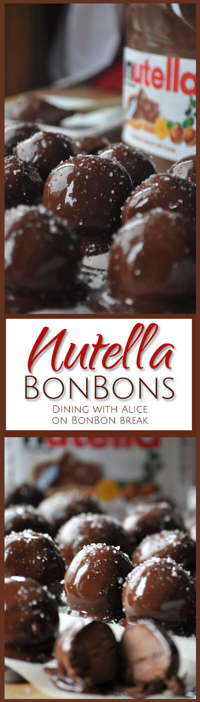 These melt-in-your-mouth dark chocolate Nutella Bonbons are perfect for yourself or great for sharing (the recipe makes 30).