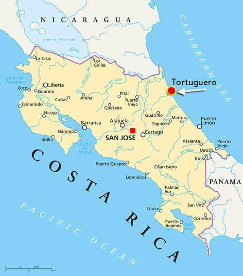 tortuguero-costa-rica-map
