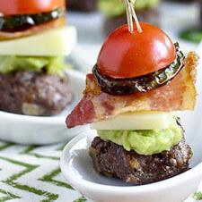 Bacon Jalapeño Guacamole Cheeseburger Bites