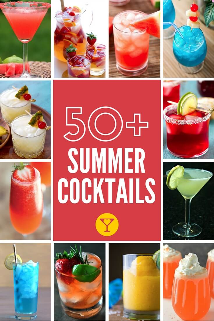 50+ Summer Cocktails! Margaritas, sangria, whiskey lemonades and Mosow mules, this list is packed with the best drinks to enjoy this summer.