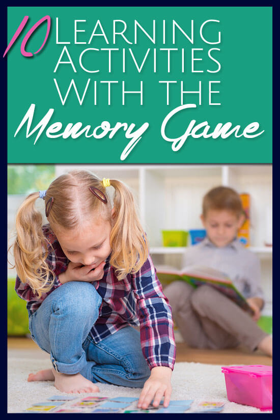 10 fun games that will help re-purpose that old Memory Game box of cards and help them get a lot more use with some great learning activities.