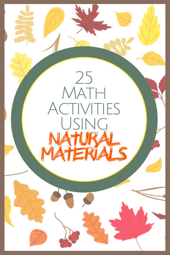 Fall is a great time of year to get outside and gather natural materials. Here are some easy ways to use them for math activities!