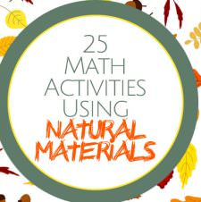 25 Math Activities Using Natural Materials