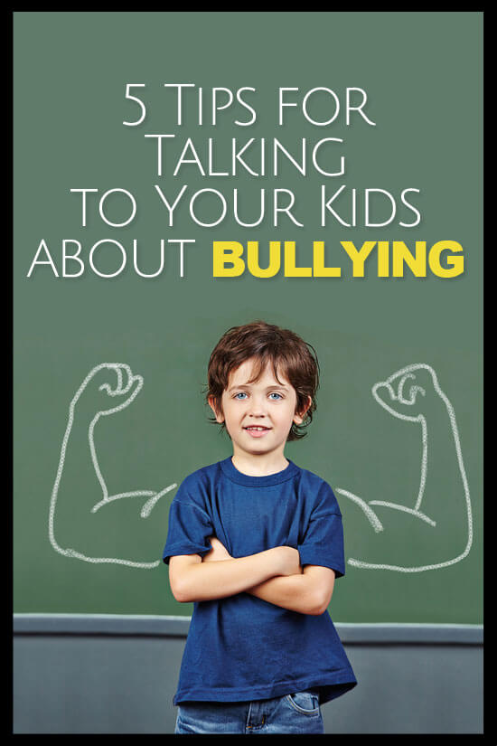 Great parenting hints for talking to your kids about bullying