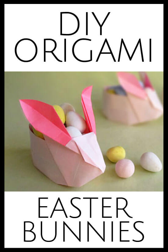 These are the cutest little origami Easter Bunnies and they are easy, too!