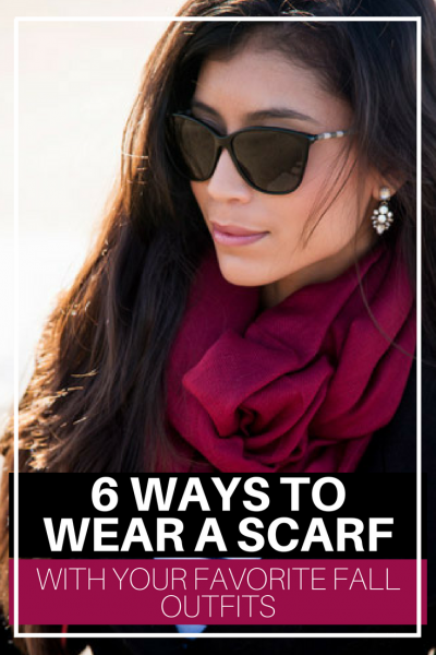 Here are 6 great ways to wear a scarf with your favorite fall outfits. Also check out, StylishlyMe's Scarf Guide to 21 more beautiful ideas to get your fall fashion together.