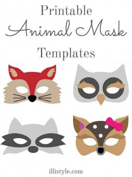 Fun felt masks - printable templates available