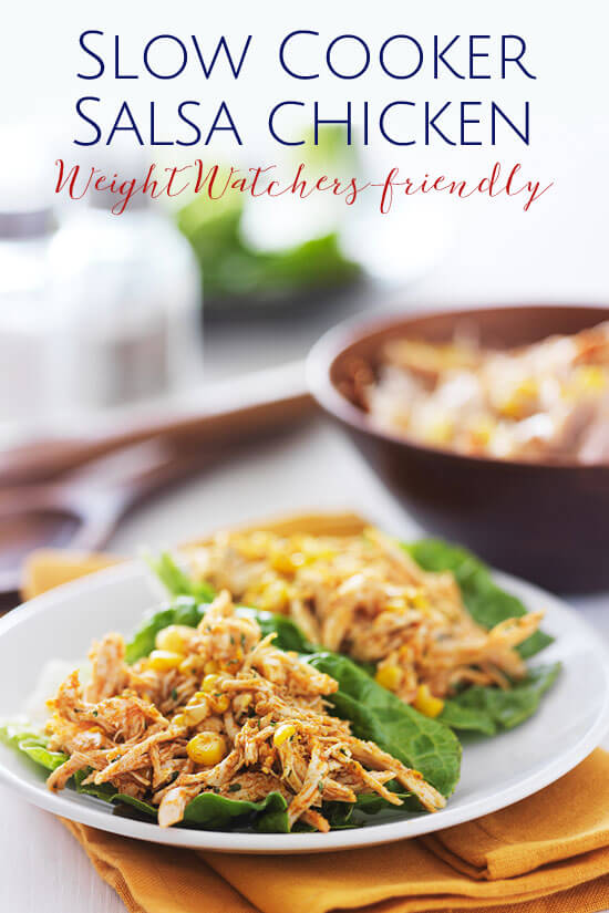 Recipe for Slow Cooker Salsa Chicken Weight Watchers friendly