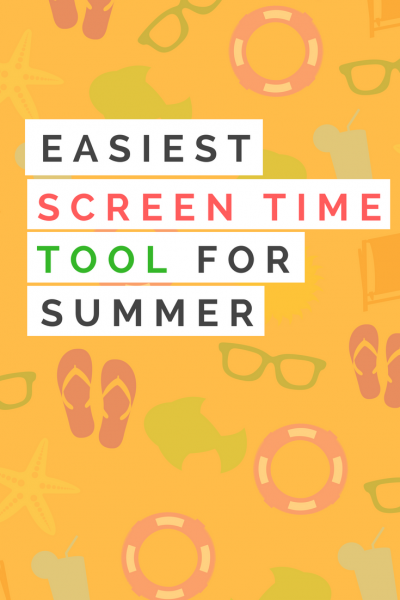 Great tool for screen time during the summer. Get those kids outside!