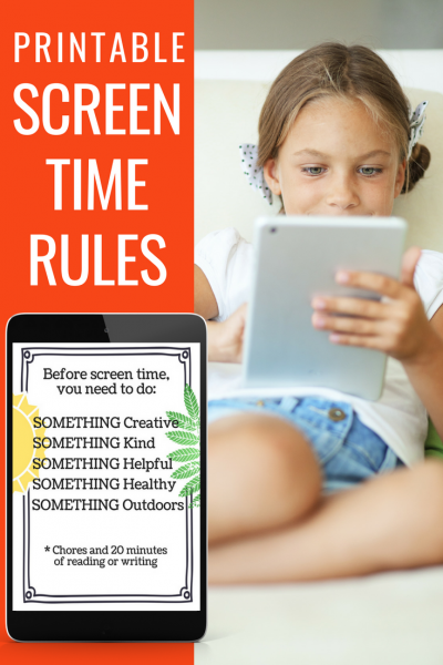 "This quick printable will help you take away the stress of hearing ""Can I have screen time?"" This works brilliantly with the Love and Logic parenting style."