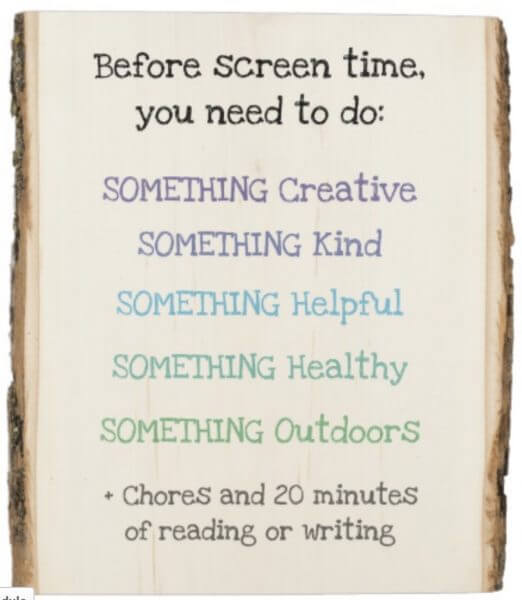 screen time rules