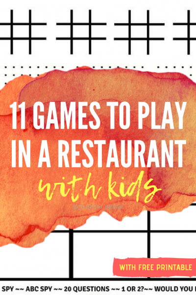 Keep your kids busy and having fun with these games to play in a restaurant or anywhere they have to wait