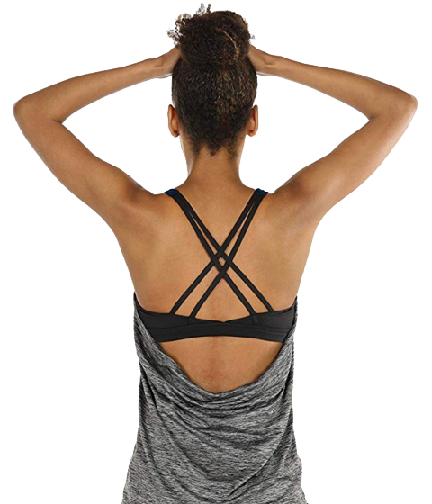 Yoga top with built in support