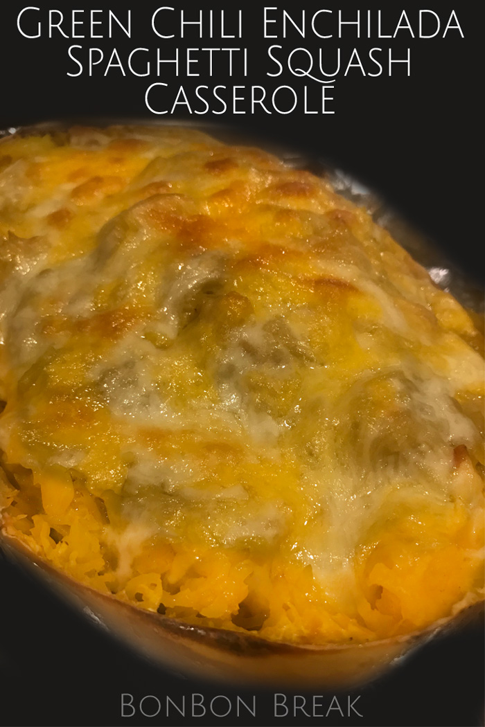 This Green Chili Enchilada Spaghetti Squash Casserole is naturally gluten free and kicks up one of our favorite winter squash recipes.
