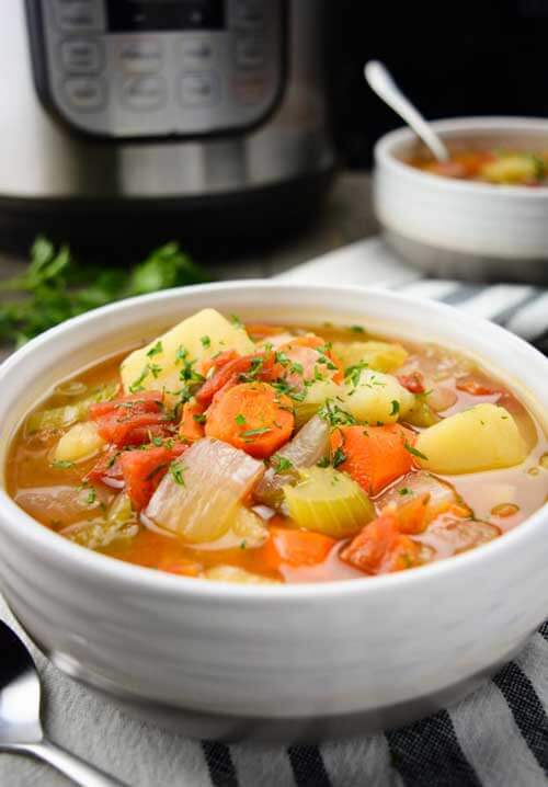 Instant Pot Vegetable Soup by Where You Get Your Protein