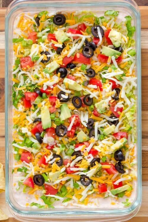 Skinny Taco Dip for Family Game Night