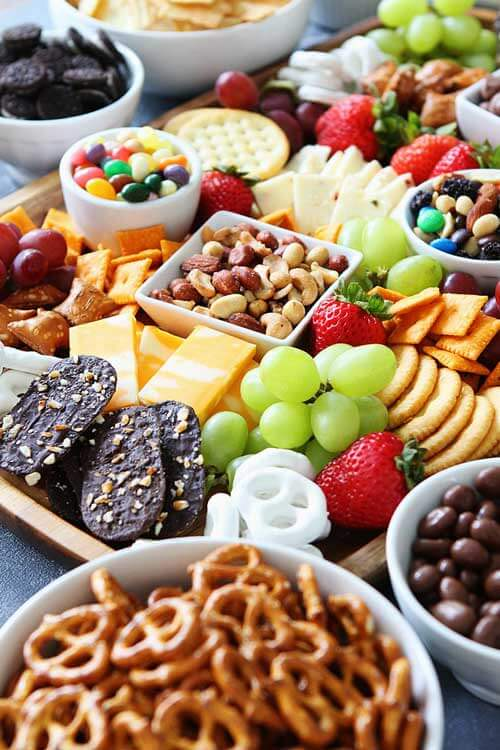 Sweet and Salty Snack Board for Family Game night