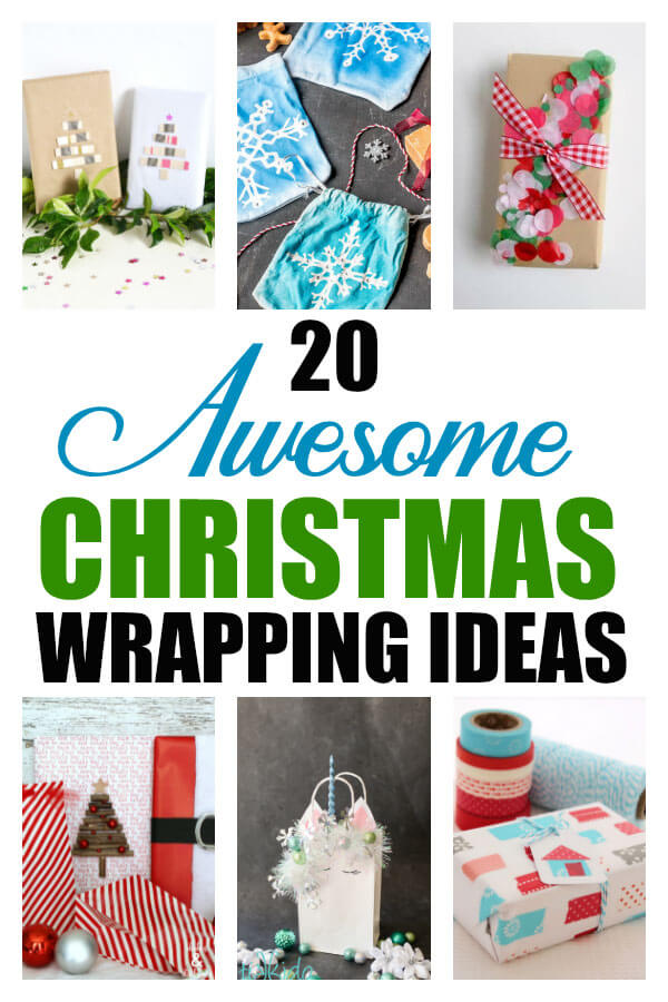 Bless all the craft people who can come up with these beautiful Christmas gift wrapping ideas. We have everything from something for the hardcore DIY mama to the easy brown paper package with a little bling. There are a few printables in there, too!