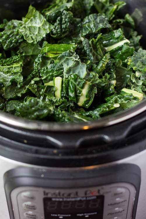 How To Kale in 3 Minutes In The Instant Pot by Nora Cooks