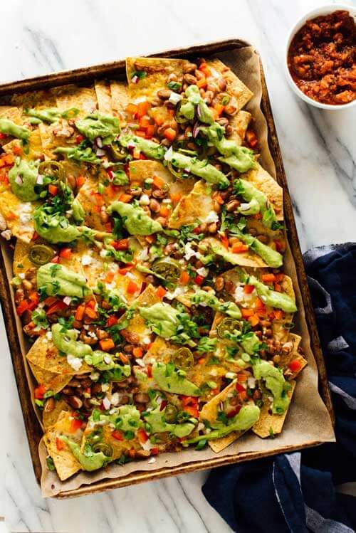 Veggie Nachos for Family Game Night