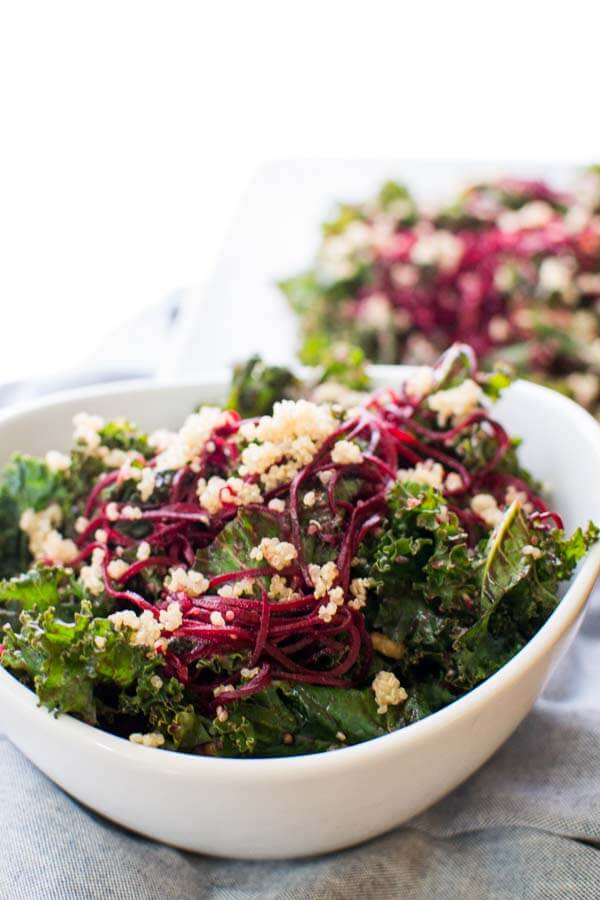 Beets And Blue Kale Crunch Salad by Hunger Thirst Play
