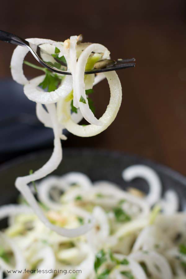 Daikon and Green Apple Salad with Pepitas by Fearless Dining