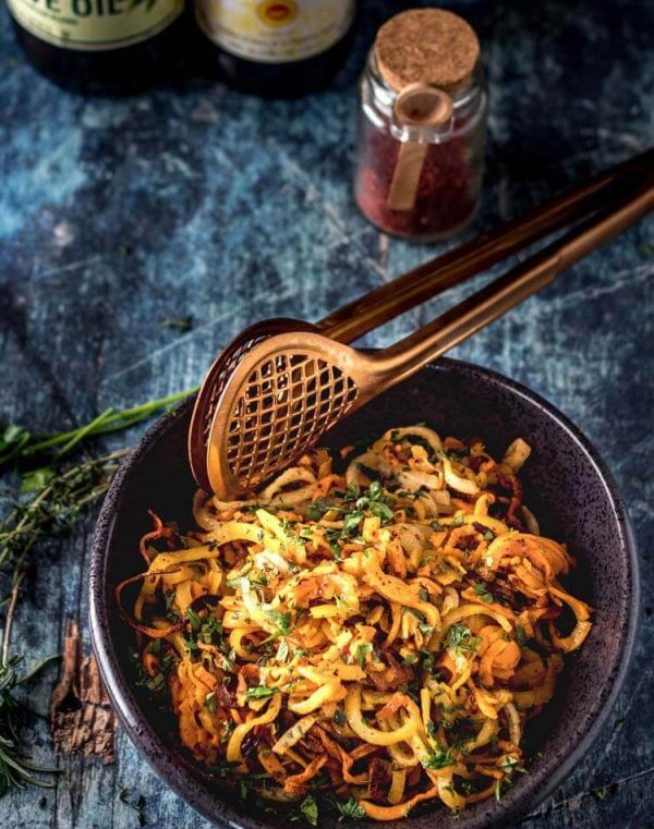 Quick Spiralized Root Vegetables by Beyond Mere Sustenance