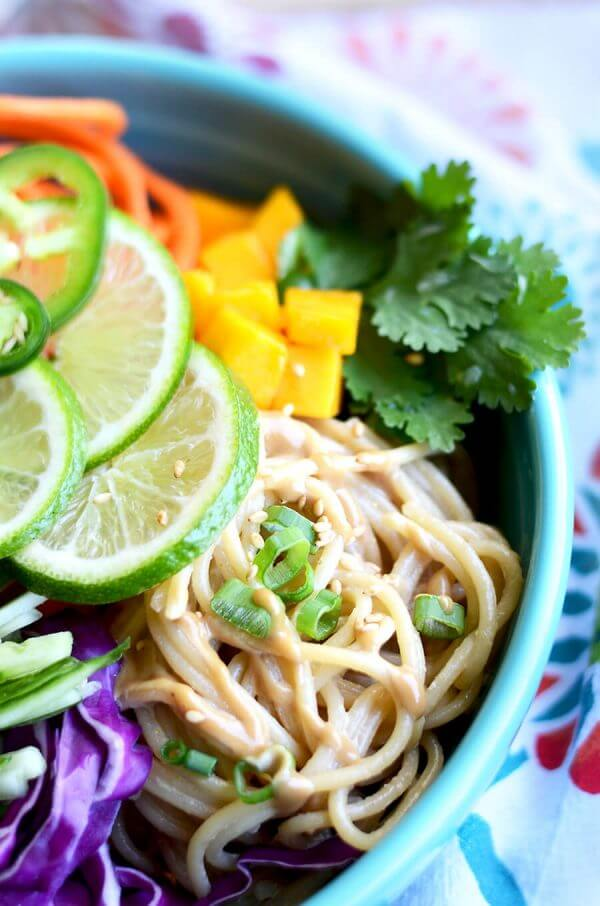 Sesame Noodle Salad with Cashew Dressing by Vintage Kitty